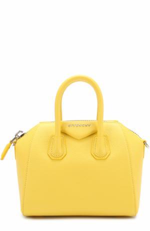 Сумка Antigona mini Givenchy. Цвет: желтый