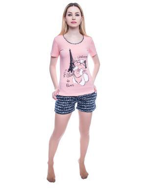Пижама NICOLETTA. Цвет: персиковый