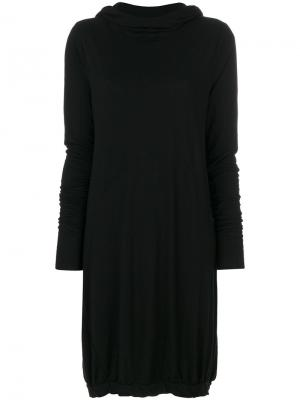 Вязаное платье с капюшоном Poème Bohémien. Цвет: чёрный