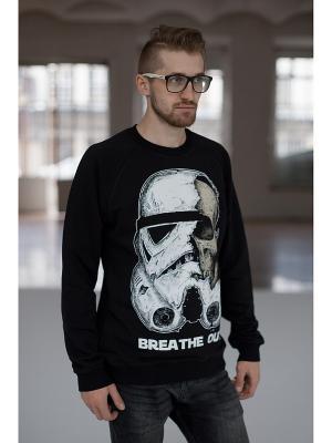 Свитер BREATHE OUT - Storm Trooper. Цвет: черный