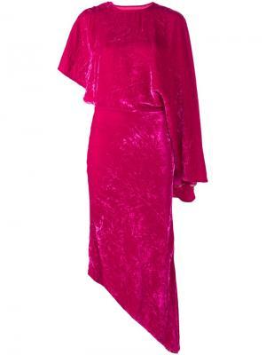Асимметричное платье A.W.A.K.E.. Цвет: розовый и фиолетовый