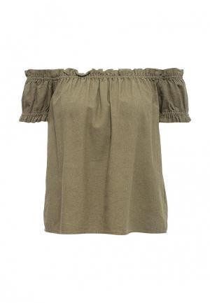 Блуза Vero Moda. Цвет: хаки