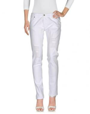 Джинсовые брюки SOUVENIR. Цвет: белый