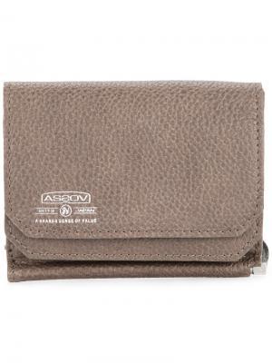 Бумажник с зажимом для купюр Shrink As2ov. Цвет: коричневый