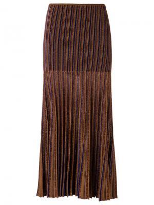Ribbed knit skirt Gig. Цвет: жёлтый и оранжевый