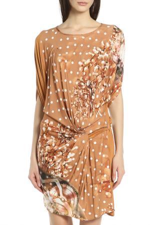 Платье Oblique. Цвет: коричневый