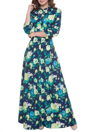 Платье Olivegrey. Цвет: сине-желтый
