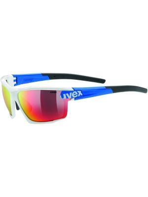 Солнцезащитные очки Uvex. Цвет: белый, синий