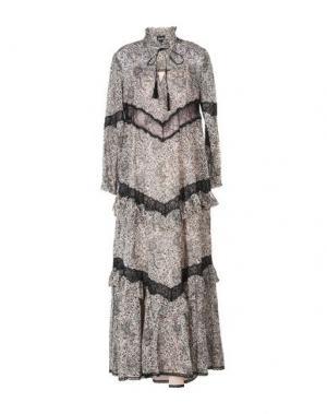 Длинное платье JUST CAVALLI. Цвет: голубиный серый