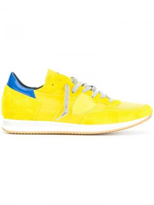 Кеды на шнуровке Philippe Model. Цвет: жёлтый и оранжевый