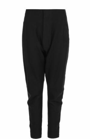 Шерстяные брюки с заниженной линией шагового шва Y-3. Цвет: черный
