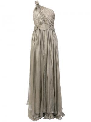 Вечернее платье Flore на одно плечо Maria Lucia Hohan. Цвет: серый
