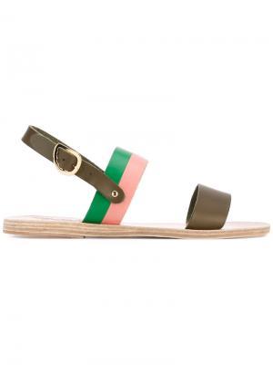 Dinami sandals Ancient Greek. Цвет: коричневый