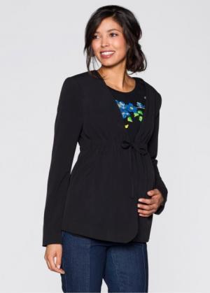 Деловая мода для беременных: жакет (черный) bonprix. Цвет: черный