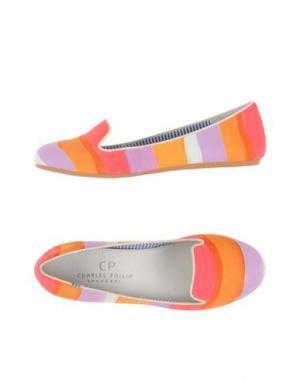 Мокасины CP CHARLES PHILIP SHANGHAI. Цвет: оранжевый