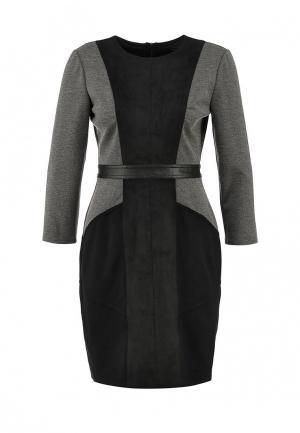 Платье BCBGMAXAZRIA. Цвет: серый, черный
