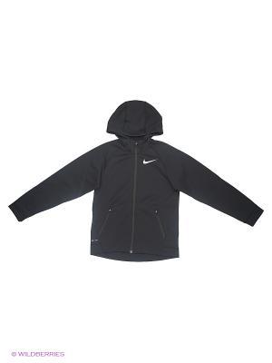 Толстовка B NK THRMA SPHR JKT HD Nike. Цвет: черный