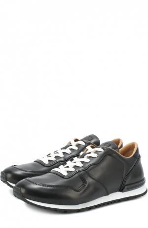 Кожаные кроссовки на шнуровке Tod's. Цвет: черный