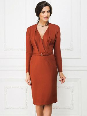 Платье La vida rica. Цвет: терракотовый
