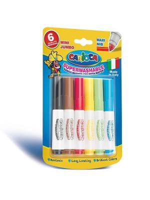 Набор мини-фломастеров MINI JUMBO  для детей, 6 цв Universal. Цвет: синий