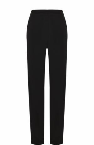 Однотонные брюки прямого кроя с эластичным поясом Givenchy. Цвет: черный