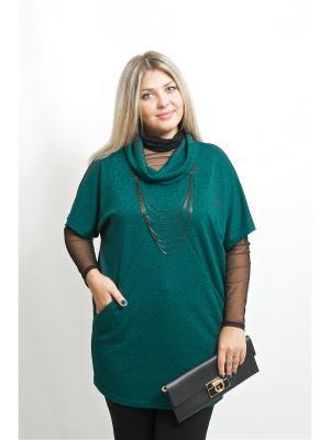 Туника BALSAKO. Цвет: темно-зеленый