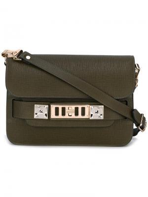 Mini PS11 shoulder bag Proenza Schouler. Цвет: зелёный