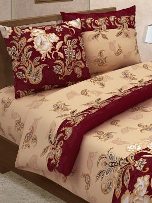Комплект постельного белья Магия Ночи. Цвет: бордовый