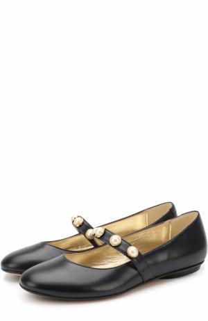 Кожаные туфли с декорированной перемычкой Missouri. Цвет: синий