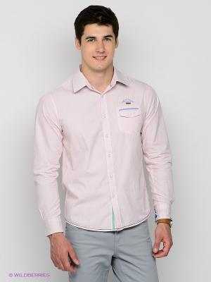 Рубашка Mezaguz. Цвет: бледно-розовый, белый