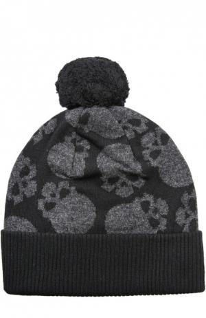 Шерстяная шапка с принтом Gemma. H. Цвет: черный