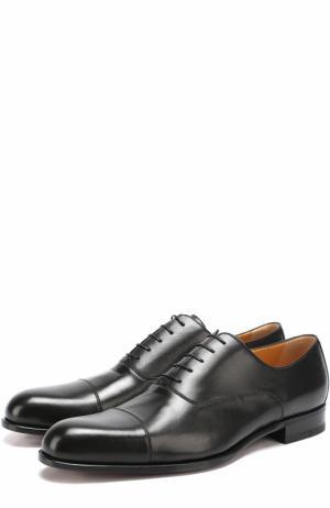 Классические кожаные оксфорды A. Testoni. Цвет: черный