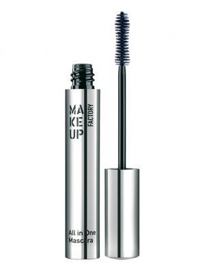 Комбинированная тушь для ресниц All In One Mascara №07, оттенок темно-синий Make up factory. Цвет: темно-синий