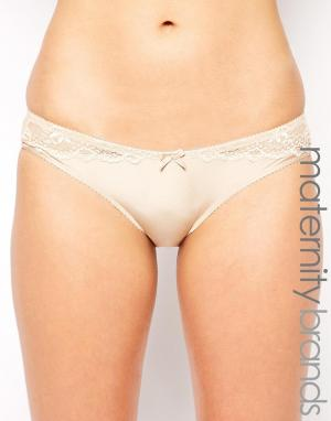 Hotmilk Maternity Eclipse Hipster Brief. Цвет: телесный