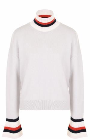 Шерстяной свитер свободного кроя MRZ. Цвет: светло-серый