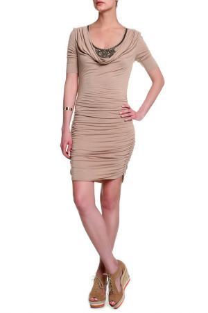 Платье Faith. Цвет: бежевый