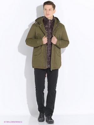 Куртка VIVACANA. Цвет: темно-зеленый