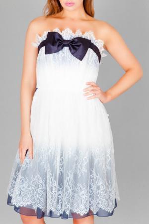 Коктейльное платье Faust. Цвет: white and navy
