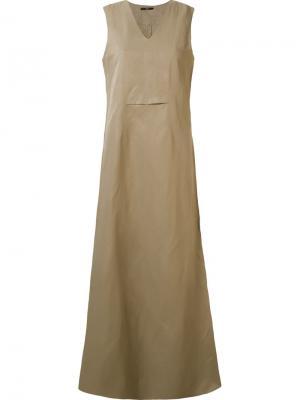 Длинное платье Vereda Uma | Raquel Davidowicz. Цвет: телесный