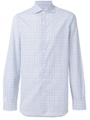 Checked shirt Isaia. Цвет: синий