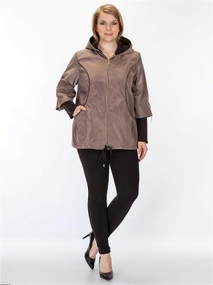 Куртка HELLO MODA!. Цвет: коричневый