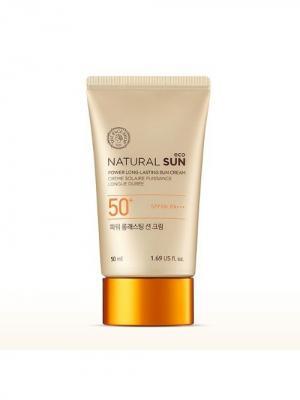 Стойкий солнцезащитный крем NATU0RAL SUN SPF50+ PA+++, 50мл The Face Shop. Цвет: белый