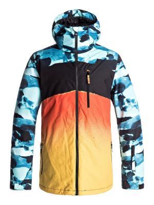 Куртка Quiksilver. Цвет: антрацитовый, лазурный, светло-оранжевый