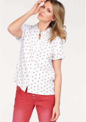 Блузка CHEER. Цвет: цвет белой шерсти/красный