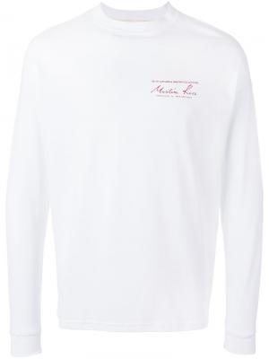 Толстовка с принтом-логотипом Martine Rose. Цвет: белый