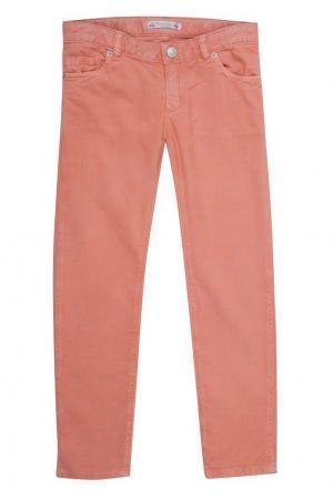 Хлопковые брюки в рубчик Bonpoint. Цвет: none