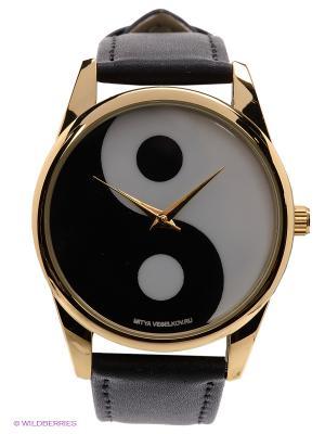 Часы Инь Янь Mitya Veselkov. Цвет: черный