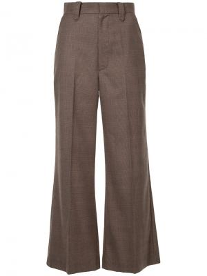 Wide leg tailored trousers G.V.G.V.. Цвет: коричневый