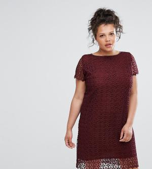 Elvi Кружевное платье. Цвет: красный
