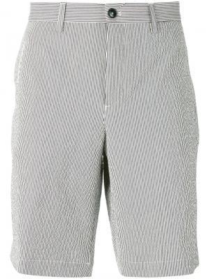 Полосатые шорты-чинос Ermenegildo Zegna. Цвет: белый